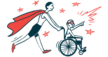 rare disease clinical trial participants | Lambert-Eaton News | Illustration of woman in cape pushing child in wheelchair